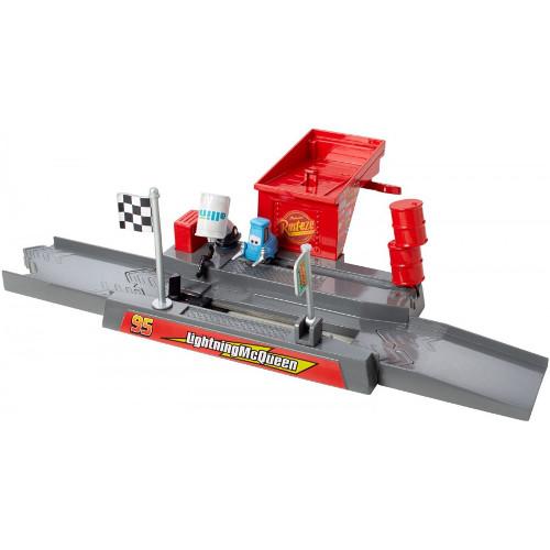 Set Pista Lansator - Cupa Piston Pit Stop Cars, Mattel