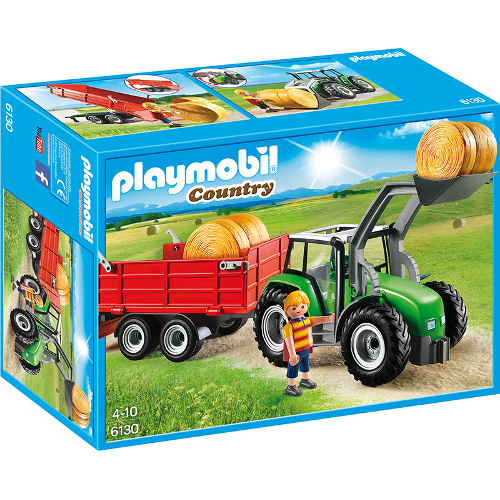Country Farm - Tractor Mare Cu Remorca, Playmobil