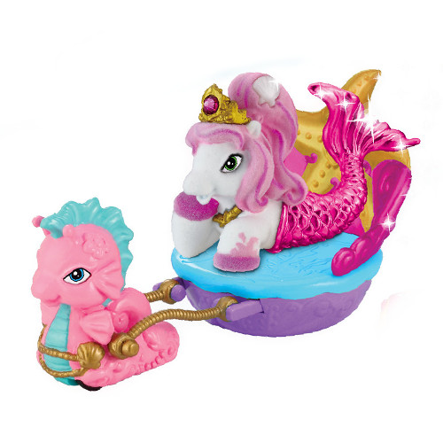 Filly Ponei Sirena cu Caleasca Roz, Dracco