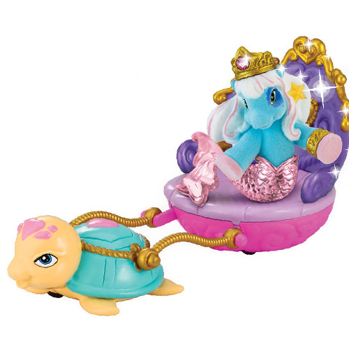 Filly Ponei Sirena cu Caleasca Albastra, Dracco