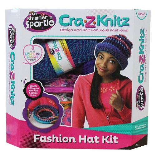 Set de Crosetat Ultimate Designer Cra-Z-Knitz Caciula, Cra-Z-Art