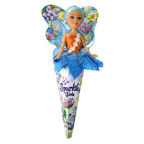 Papusa Sparkle Girlz Floral Fairies Verde, Funville