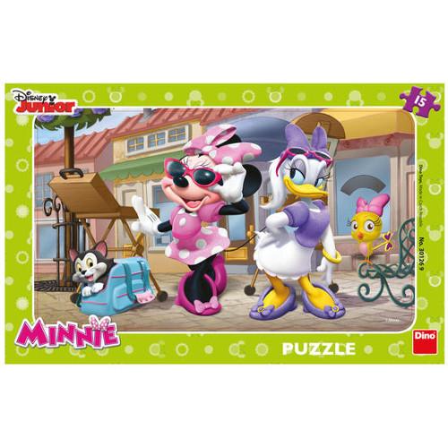 Puzzle Minnie si Daisy la Paris 15 Piese, Dino Toys