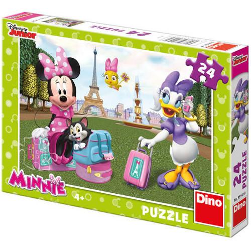 Puzzle Minnie la Paris 24 Piese, Dino Toys