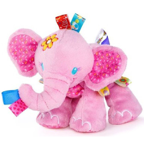 Taggies - Jucarie de Plus Prietenul Jucaus Elefantul Roz Resigilat, Bright Starts
