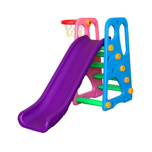 Centru de Joaca 2 in 1 Happy Slide Multicolor, Million Baby