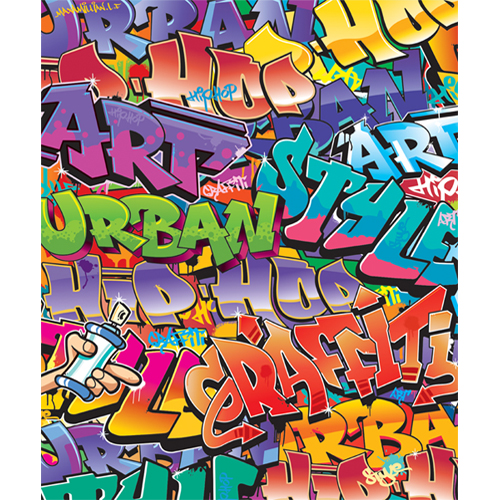Tapet pentru Copii Graffiti, Walltastic