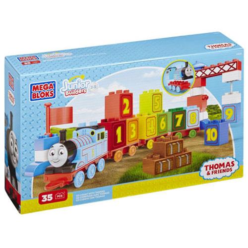 Thomas Trenulet cu Numere Mega Bloks, Fisher-Price