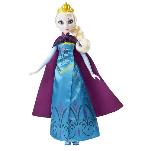 Disney Frozen - Papusa Elsa cu Rochita 2 in 1, Hasbro