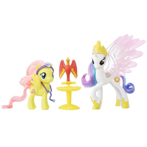 Set Figurine Nurturing Friends Princess Celestia si Fluttershy, Hasbro