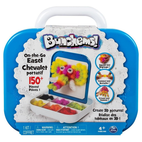 Bunchems - Set Creativ 3D in Trusa, 150 piese, Spin Master