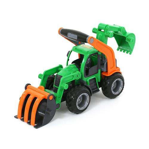 Tractor cu Buldozer si Excavator, Wader