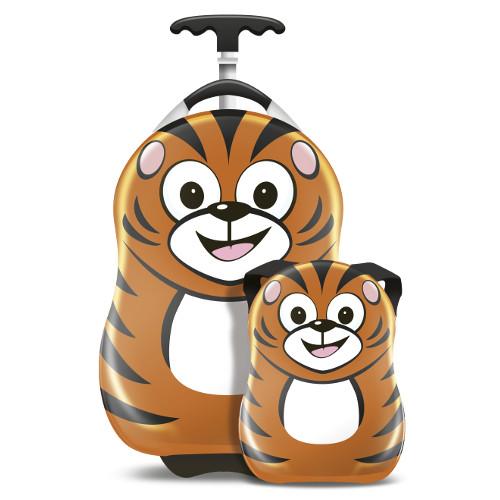 Set Troler si Ghiozdan Pakuna the Tiger, Cuties and Pals