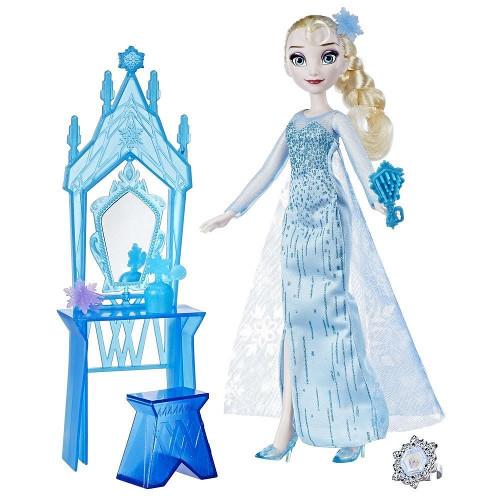 Papusa Frozen - Elsa cu Masuta de Infrumusetare, Hasbro