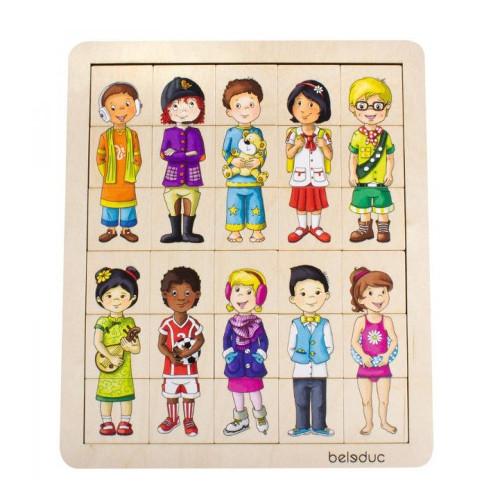 Puzzle Amesteca si Potriveste Copiii Lumii, Beleduc