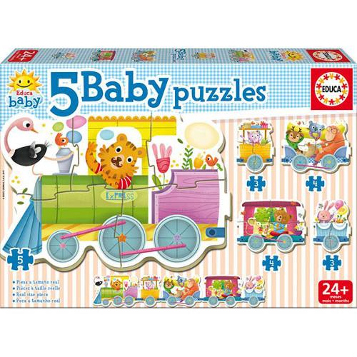 Puzzle Baby Animals Train, Educa