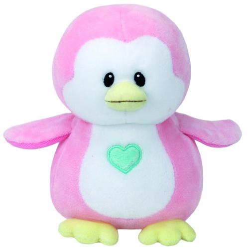 Plus Pinguinul Roz Penny 15 cm, Ty
