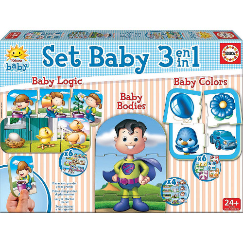 Puzzle Baby Educational Games 3 in 1, Educa