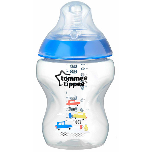 Biberon Decorat 260 ml Bleu, Tommee Tippee