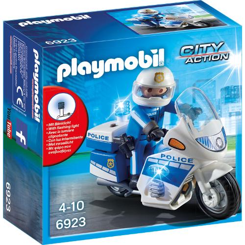 Set Playmobil City Action Police, Motocicleta Politiei cu Led, Playmobil