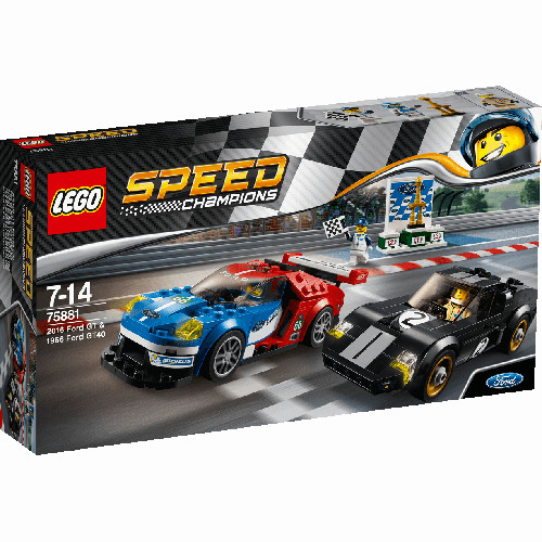Speed Champions - Ford GT 2016 & Ford GT40 1966, 75881, LEGO