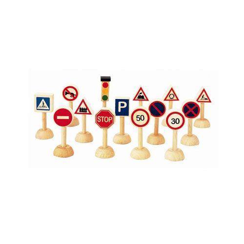 Plan Toys - Semne de Circulatie si Semafor