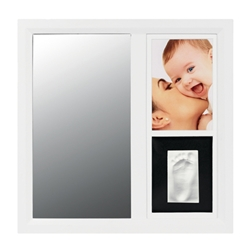 Baby Art - Mirror Print Frame White And Black