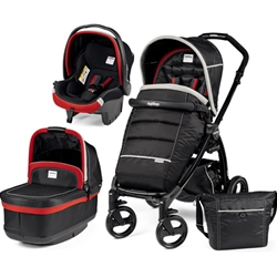 Peg Perego - Carucior 3 in 1 Book Plus Black POP-UP Synergy