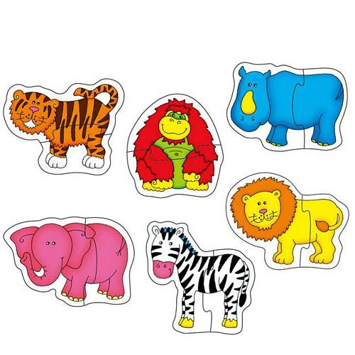Baby Puzzle Jungle - Puzzle cu Animale din Jungla