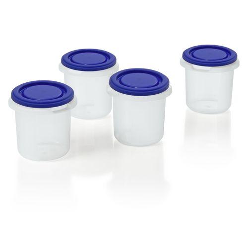 Set 4 Recipiente Plastic
