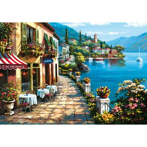 Puzzle Overlook Cafe, Sung Kim - 1500 piese