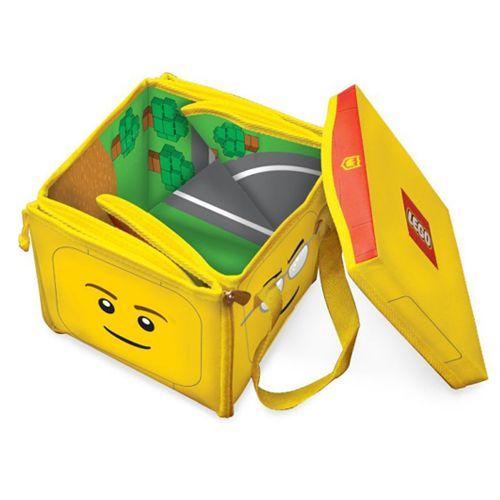 Cutie pentru Jucarii 2 in 1 ZipBin Lego Head