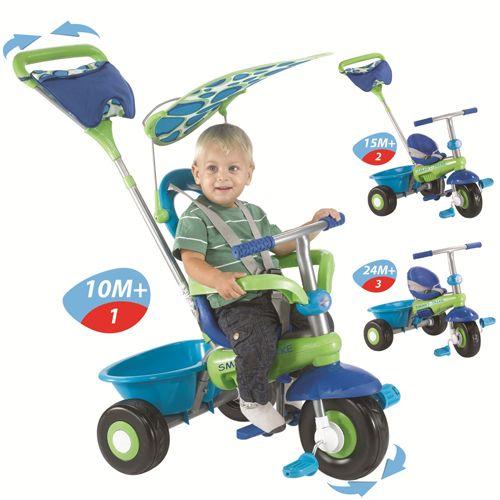 Tricicleta 3 in 1 Fresh Blue Green