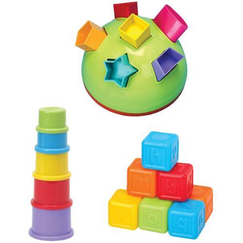 Set 3 Jucarii: Piramida, Cuburi si Minge