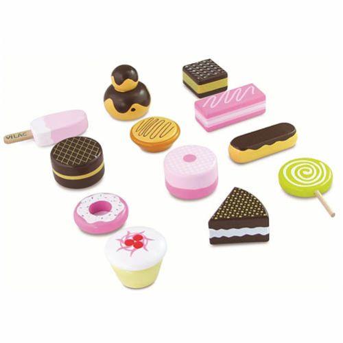 Cutie cu 12 Dulciuri din Lemn