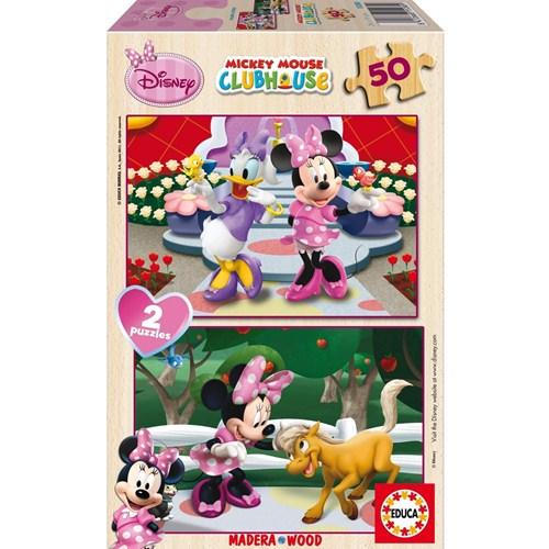 Poza Puzzle Minnie Mouse 2x50