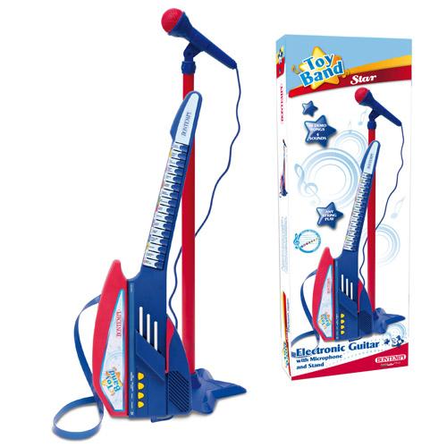 Chitara Electronica cu Microfon Albastra