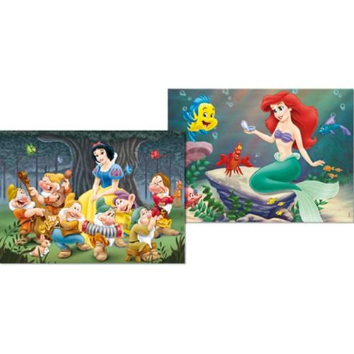 Puzzle Alba ca Zapada si Ariel 2 x 48