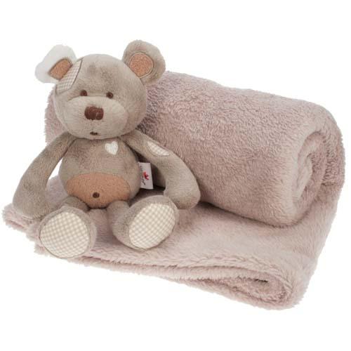 Bebe Tradition - Paturica pentru Patut cu Ursulet de Plus
