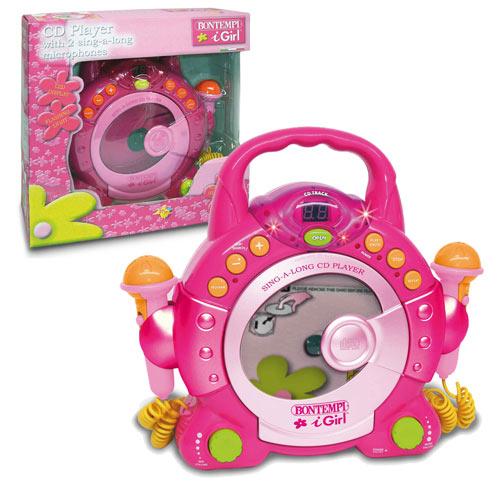 CD Player cu 2 Microfoane Roz
