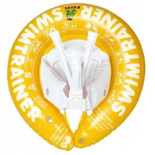 Круг детский надувной SWIMTRAINER желтый.