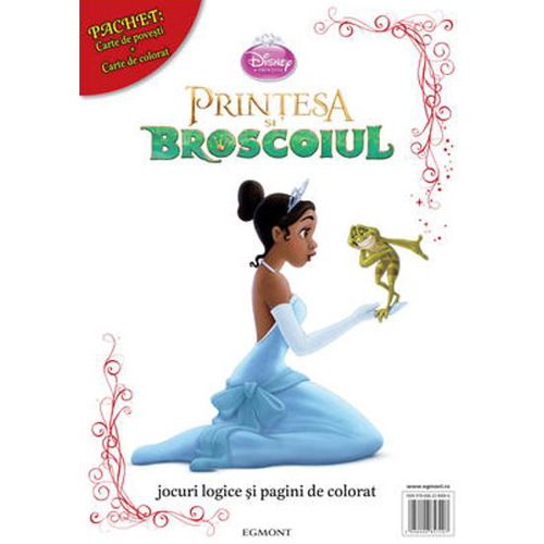Pachet Carte de Povesti si Carte de Colorat Printesa si Broscoiul