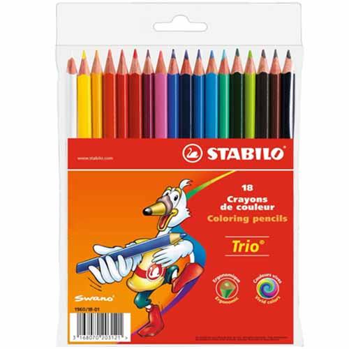 Creioane Colorate Trio 18 Culori