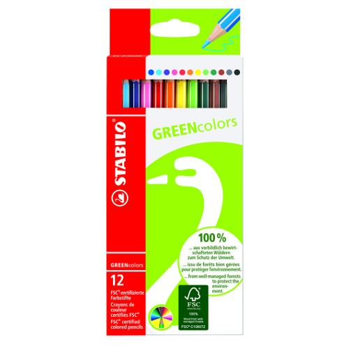Creioane Colorate GREENcolors 12 Bucati