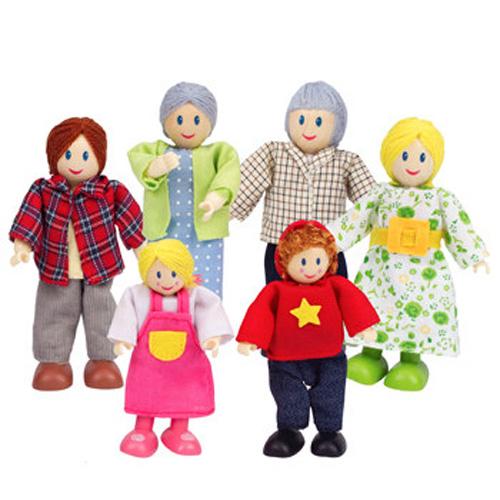 Familie 6 Membrii Albi