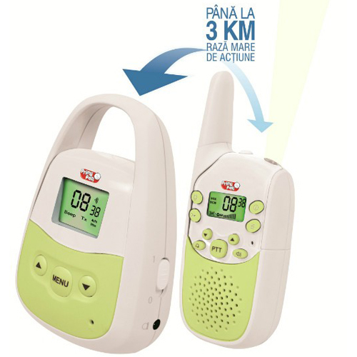 Interfon Baby Phone cu Raza Mare de Actiune