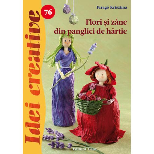 Flori si Zane din Panglici de Hartie 76 - Idei Creative