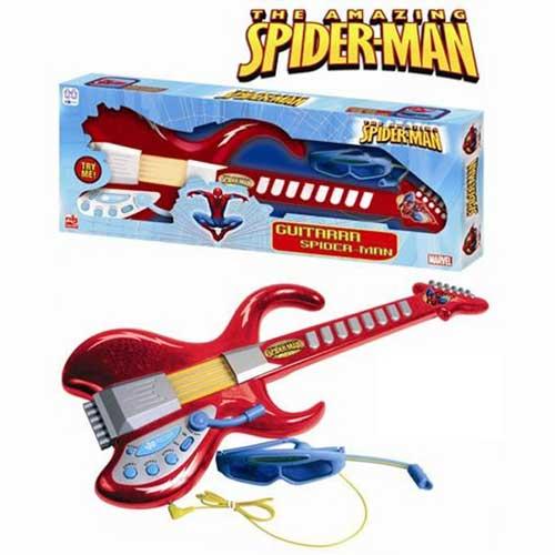 Poza Chitara cu Ochelari si Microfon Spiderman