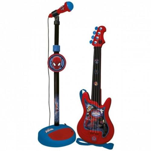 Chitara cu Microfon Spiderman