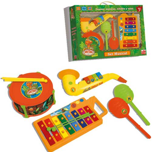 Set Instrumente Muzicale Dinotren
